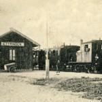 Der Bahnhof 1915
