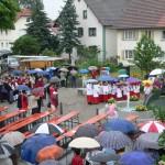 29. Juli 2006 Segnung des Brunnens durch Bischof Dr. Mixa