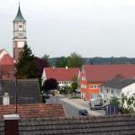 Blick vom Gerüst im April 2008