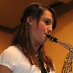 Antonia Hangl begeistere mit ihrem Solo am Saxophon. Foto: Maria Schmid MZ