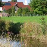 Blick auf Zaisertshofen vom Radlweg nach Tussenhausen