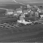 Luftaufnahme vom neuen Friedhof 1957