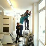 Das Dekorationsteam Schabert bei der Arbeit