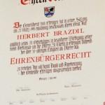 Geistl. Rat Herbert Brazdil ist Ehrenbürger von Ettringen