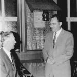 Bürgermeister Hartmann und Landrat Otto Weikmann