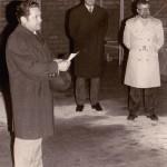 Hebauf 1974 v.l.: Bürgermeister Fehle, Rektor Schroller