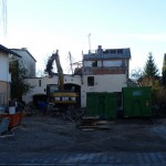 Abbruch des Nebengebäudes am 28.12.13