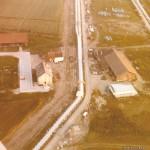 Luftaufnahme des Pisterhofes während der Bauzeit des Senders