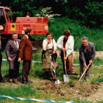 v.l.n.r.:Ing. Steinbacher, 1.Bgm. Fehle, Landrat Dr. Haisch, GRätin Kugelmann, GR Scheitle, 2. Bgm. Aigster
