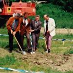 Ing. Steinbacher, Landrat Dr. Haisch, 1.Bgm. Fehle, stellvertr. Leiter des WWA Krumbach Arnold
