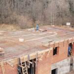 14.11.91 Decke vom Betriebsgebäude wird betoniert