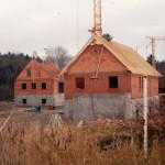 25.11.91 Rechengebäude: Dachstuhl aufgerichtet