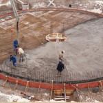 Bodenplatte wird betoniert