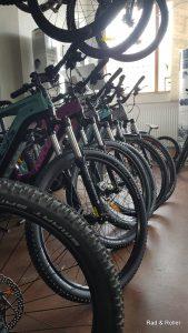 Blick in den Ausstellungsraum von Rad & Roller