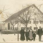 Südostansicht Hauptstraße 24 - Familie Schwab Martin um 1900