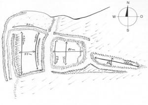Zeichnung der alten Burganlage