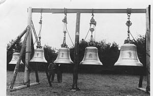 Ankunft der neuen Glocken (24.8.1949) Jesu Glocke, Martin Glocke, Josefs Glocke, Marienglocke, Glocke der Gefallenen