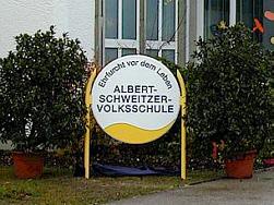 Eingang zur  Albert-Schweitzer-Schule