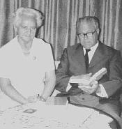 Rektor Heinrich Weinkopf mit seiner Gattin Anna