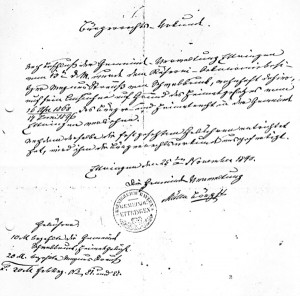 Bürgerrechtsurkunde
