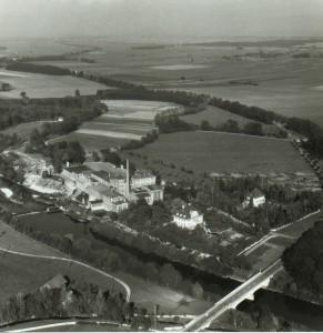 Ansicht der Papierfabrik 1957