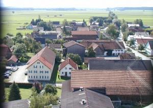 Blick vom Kirchturm in Richtung Süden 2001