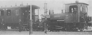"""Die """"Staudenbahn"""" kurz nach der Inbetriebnahme des Streckenabschnitts Türkheim - Markt Wald 1912"""