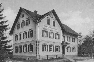 """Bahnhofsrestauration """"Rescht"""" um1920"""