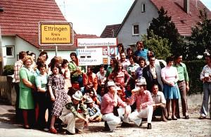 Partnerbesuch der Ettringer aus der Eifel 1973