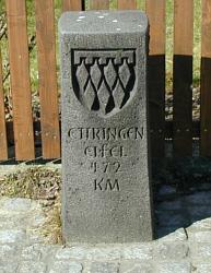 Gedenkstein zur Parnerschaftsgemeinde Ettringen/Eifel
