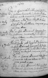 Kirchenbuch von 1677