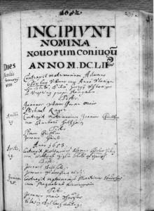 Kirchenbuch 1652