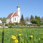 Blick auf die St. Georgskirche