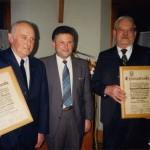 V.l. Altbürgermeister Hubert Sirch, Bgm. Walter Fehle und Altbürgermeister Hyazinth Baumann