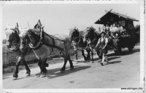 Das Pferdegespann wird von Georg Knöpfle geführt
