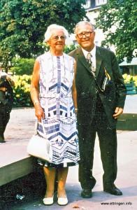 Rektor Heinrich Weinkopf mit Gattin Anna im Jahre 1975 - Bild: Fotoarchiv Dr. Martin Kleint