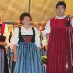 Anneluise Eberhart wurde zum Ehrenmitglied ernannt und für 25 Jahre Chorgesang ausgezeichnet