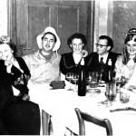 v.l.: Anton Kornes, ? , Armin Lang, Vevi Weh mit Ehemann Otto und Rindle Toni mit Ehefrau