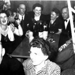 Oben v. l.: ? , Sontheimer Edith mit Ehemann Georg, Blochum Hubert, Blochum Gerda, Blochum Babette und Blochum Alfred