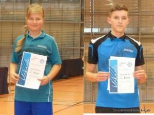 Christopher Rid wurde Zweiter beim Kreisranglistenturnier. Ebenfalls Zweite wurde Laura Thalmeir beim Turnier in Erolzheim.