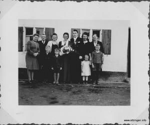Hochzeitsfoto des Ettringer Künstlers Kurt Wastl  mit seiner Braut Maria  geb. Blum im April 1950.