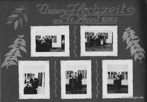 Künstlerisch verziertes Fotoalbum der Familie Wastl
