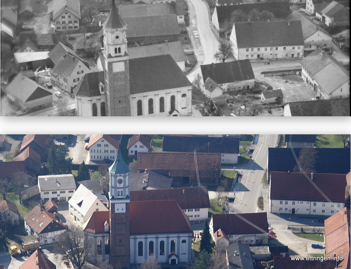 """Ein Teil der """"guten Stube"""" Ettringens 1954 und 2007"""