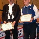 Ernennung zum Ehrenmitglied: v.r. Alexander Eben, Erich Scherbaum