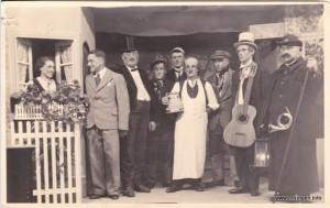 v.l.: Fehle Maria, Kornes Anton, Schreiner Müller, ?, Gerum, Schmied Hans, Berchthold Leonhard, Bäcker Lang