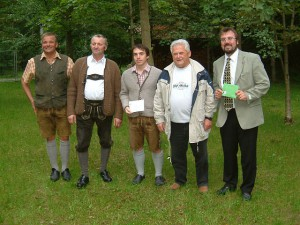 v.l.: Markus Maier, Johann Kornes, Thomas Kohler, Walter Fehle und Bgm. Robert Sturm