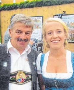 Ludwig Wagner und die beliebte TV-Moderatorin Susanne Wiesner
