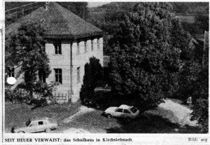 Schulhaus in Kirch-Siebnach