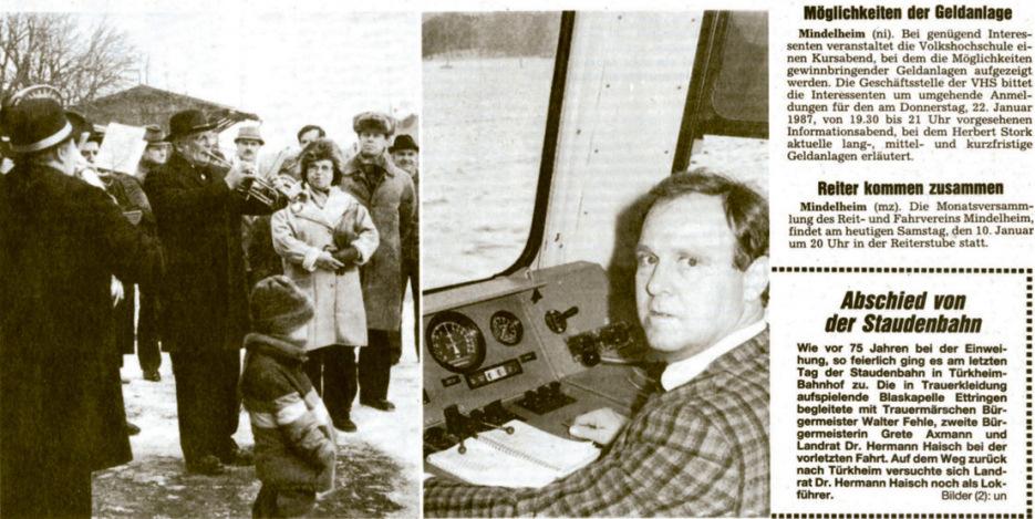 Mindelheimer Zeitung vor 30 Jahren