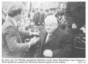Pfarrer Britzelmayr und Landrat Dr. Haisch